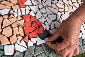 Применение мозаики из плитки